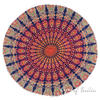 "Decorative Seating Boho Mandala Bohemian Round Floor Cushion Dog Bed Throw Meditation Pillow Cover - 32"" 4"