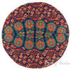 "Decorative Seating Boho Mandala Bohemian Round Floor Cushion Dog Bed Throw Meditation Pillow Cover - 32"" 6"