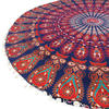 "Decorative Seating Boho Mandala Bohemian Round Floor Cushion Dog Bed Throw Meditation Pillow Cover - 32"" 5"