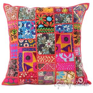 Red Decorative Colorful Sofa Throw Couch Pillow Boho Bohemian Cushion Sofo Cover - 20""