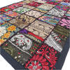 Black Patchwork Embroidered Tapestry Bohemian Boho Wall Hanging - 20 X 60""