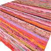 Orange Decorative Colorful Woven Chindi Bohemian Boho Rag Rug - 3 X 5 ft 1