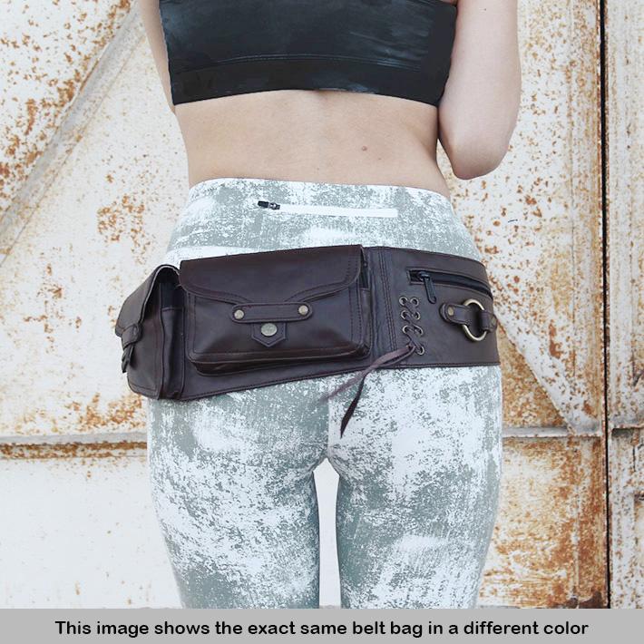 90e183ebe Sentinel Brown Leather Belt Hip Bum Waist Pouch Bag Utility Fanny Pack  Pocket Travel