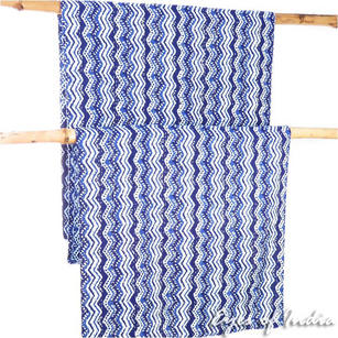 Indigo Blue Decorative Bohemian Boho Bedspread Tapestry Kantha Quilt Throw