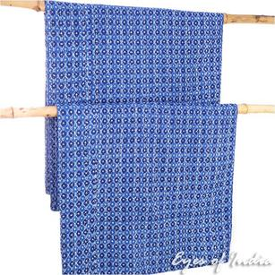 Indigo Blue Decorative Bedspread Boho Bohemian Tapestry Kantha Quilt Throw