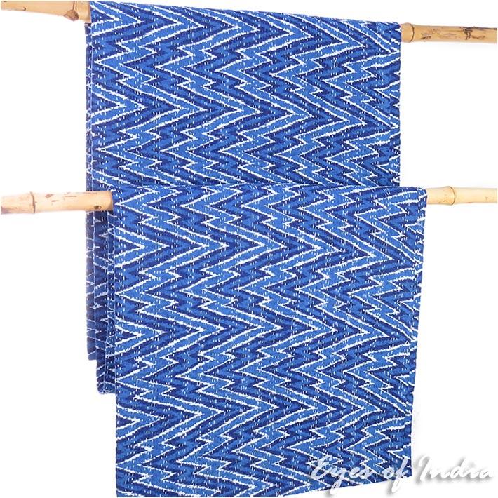 Indigo Blue Boho Bohemian Kantha Bedspread Tapestry  Decorative Quilt Throw