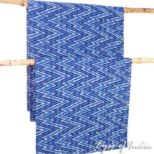 Indigo Blue Boho Bohemian Kantha Bedspread Tapestry  Decorative Quilt Throw