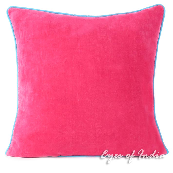 Velvet Colorful Throw Sofa Cushion Couch Pillow Boho Bohemian Colorful Throw Cover - 16""
