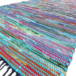Bright Rag Rug Mix Of Colors Amp Fabrics Boho Rugs Eyes