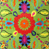 "Green Embroidered Colorful Decorative Sofa Cushion Bohemian Boho Couch Pillow Throw Cover - 16"" 2"