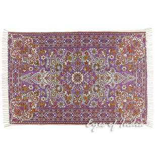 Purple Persian Indian Oriental Print Printed Area Accent Rug Carpet Antique Classical - 4 X 6 ft