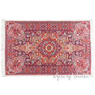 Burgundy Red Purple Persian Indian Oriental Print Printed Area Accent Rug Carpet Antique Classical - 4 X 6 ft
