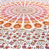 Orange White Bohemian Mandala Tapestry Wall Hanging Beach Booho - Small and Large 7