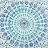 White Blue Elephant Mandala Tapestry Art Bedspread Beach Dorm - Small and Large 4