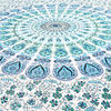 White Blue Elephant Mandala Tapestry Art Bedspread Beach Dorm - Small and Large 5