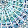 White Blue Elephant Mandala Tapestry Art Bedspread Beach Dorm - Small and Large 6