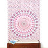 White Pink Elephant Mandala Tapestry Hanging Picnic Bohemian - Small and Large 1