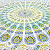 White Yellow Hippie Mandala Tapestry Art Bedspread Beach Dorm - Small and Large 2