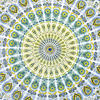 White Yellow Hippie Mandala Tapestry Art Bedspread Beach Dorm - Small and Large 3