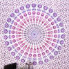 Purple Pink White Hippie Mandala Tapestry Hanging Picnic Bohemian Boho - Small and Large 2