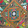 "Round Colorful Green Boho Patchwork Decorative Floor Meditation Pillow Bohemian Throw Cover - 22"" 3"