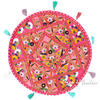 "Pink Boho Decorative Patchwork Round Floor Cushion Bohemian Seating Meditation Pillow Throw Cover - 22"" 1"