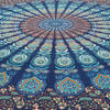 Blue Bohemian Elephant Mandala Hippie Boho Wall Tapestry - Small and Large 3