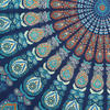 Blue Bohemian Elephant Mandala Hippie Boho Wall Tapestry - Small and Large 5