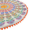 "Orange Purple Round Embroidered Mandala Floor Meditation Cushion Pillow Seating Throw Cover - 24"" 4"