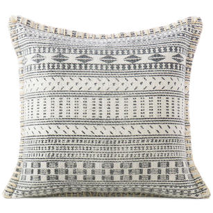 White Grey Dhurrie Printed Colorful Decorative Throw Sofa Cushion Couch Pillow Cover - 16, 16 X 24""