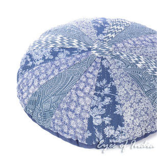 "32"" Round Kantha Decorative Floor Cushion Meditation Pillow Seating Throw Cover"