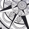 White Black Hippie Mandala Wall Hanging Celtic Tapestry Boho Bedspread - Large/Queen 4