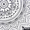 Black White Hippie Mandala Tapestry Bohemian Wall Hanging Picnic Beach Spread- Large/Queen 5