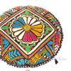 "Black Decorative Rajkoti Patchwork Round Colorful Floor Cushion Seating Meditation Pillow Throw Cover- 17"" 1"