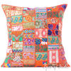 "Orange Colorful Patchwork Decorative Sofa Bohemian Boho Floor Cushion Couch Pillow Cover - 28"" 1"