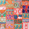 "Orange Colorful Patchwork Decorative Sofa Bohemian Boho Floor Cushion Couch Pillow Cover - 28"" 2"