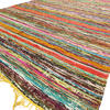 Yellow Colorful Decorative Chindi Boho Bohemian Woven Rag Rug - 4 X 6 ft 3