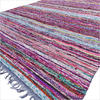 Blue Chindi Decorative Colorful Boho Woven Area Rag Rug - 5 X 8 ft 1