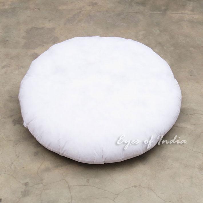"""Round White Insert Filler Filling Stuffing for Cushion Pillow Floor Pillow - 24"""", 32"""""""