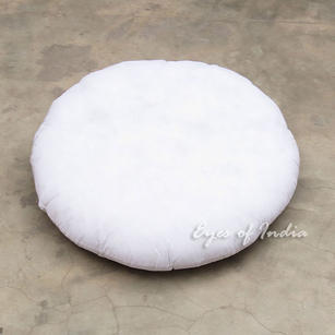 "Round White Insert Filler Filling Stuffing for Cushion Pillow Floor Pillow - 24"", 32"""