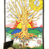 White Tree of Life Boho Tapestry Wall Hanging Bohemian Bedspread - Twin/Single 2