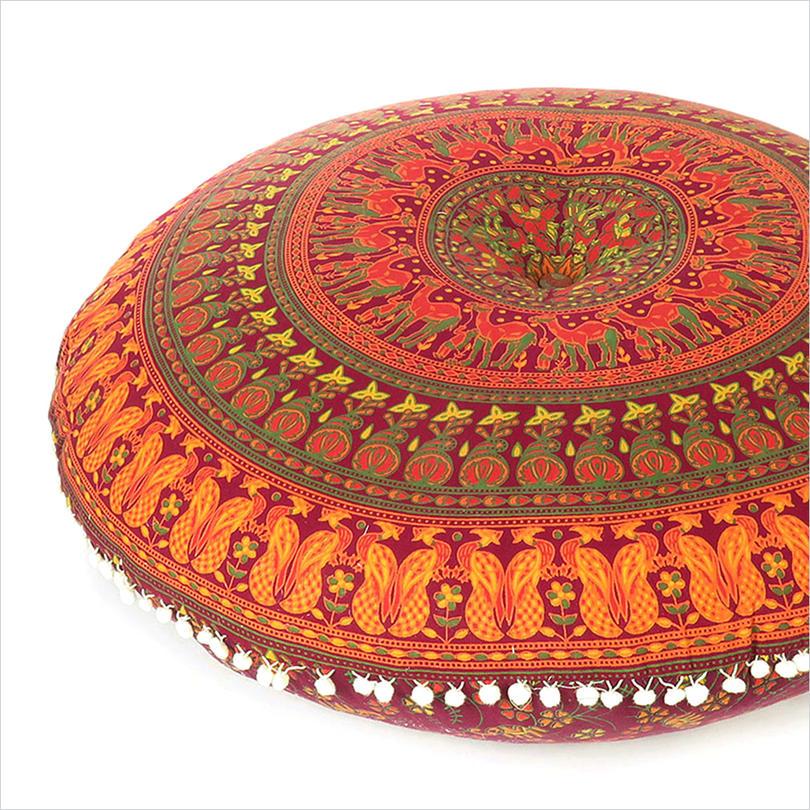 "Mandala Floor Pillow Meditation Cushion Seating Throw Cover - 32"""