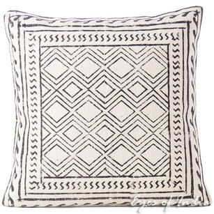 White Black Decorative Pillow Block Print Cushion Floor Couch Sofa Throw Colorful Cover - 20""