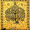 Elephant Hippie Tree of Life Boho Tapestry Wall Hanging Bedspread - Large/Queen