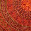 Double Queen Burgundy Red Elephant Indian Mandala Tapestry Bedspread Beach Boho Dorm Bohemian 5