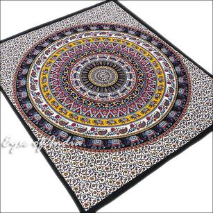 Double Queen Black Elephant Mandala Bedspread Indian Tapestry Bohemian Beach Dorm Boho