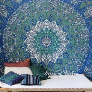 Star Indian Hippie Mandala Psychedelic Tapestry Bedspread B