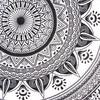 Single Twin White Black Mandala Ombre Wall Hanging Tapestry Bedspread Bohemian Accent Indian Beach Boho Chic Handmade 6