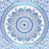 Single Twin White Blue Mandala Ombre Wall Hanging Tapestry Bedspread Bohemian Indian Beach Boho 5