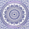 Single Twin White Purple Mandala Ombre Wall Hanging Tapestry Bedspread Beach Boho Bohemian Indian Throw 5